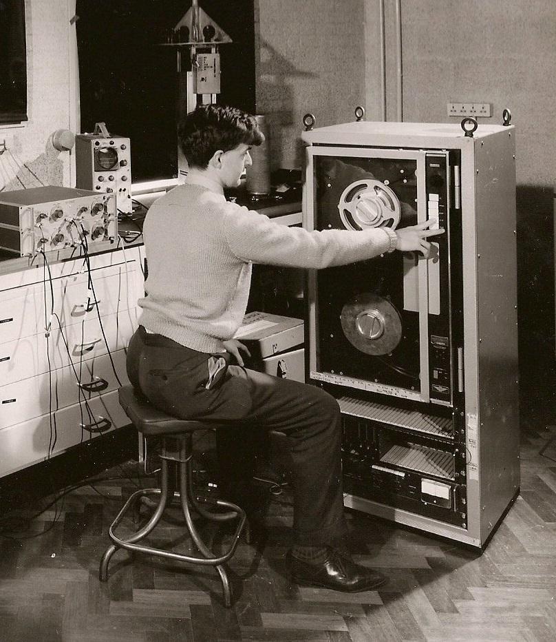 Tony Merzer&tape recorder
